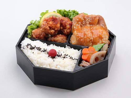 地鶏の味噌焼き&唐揚げ弁当